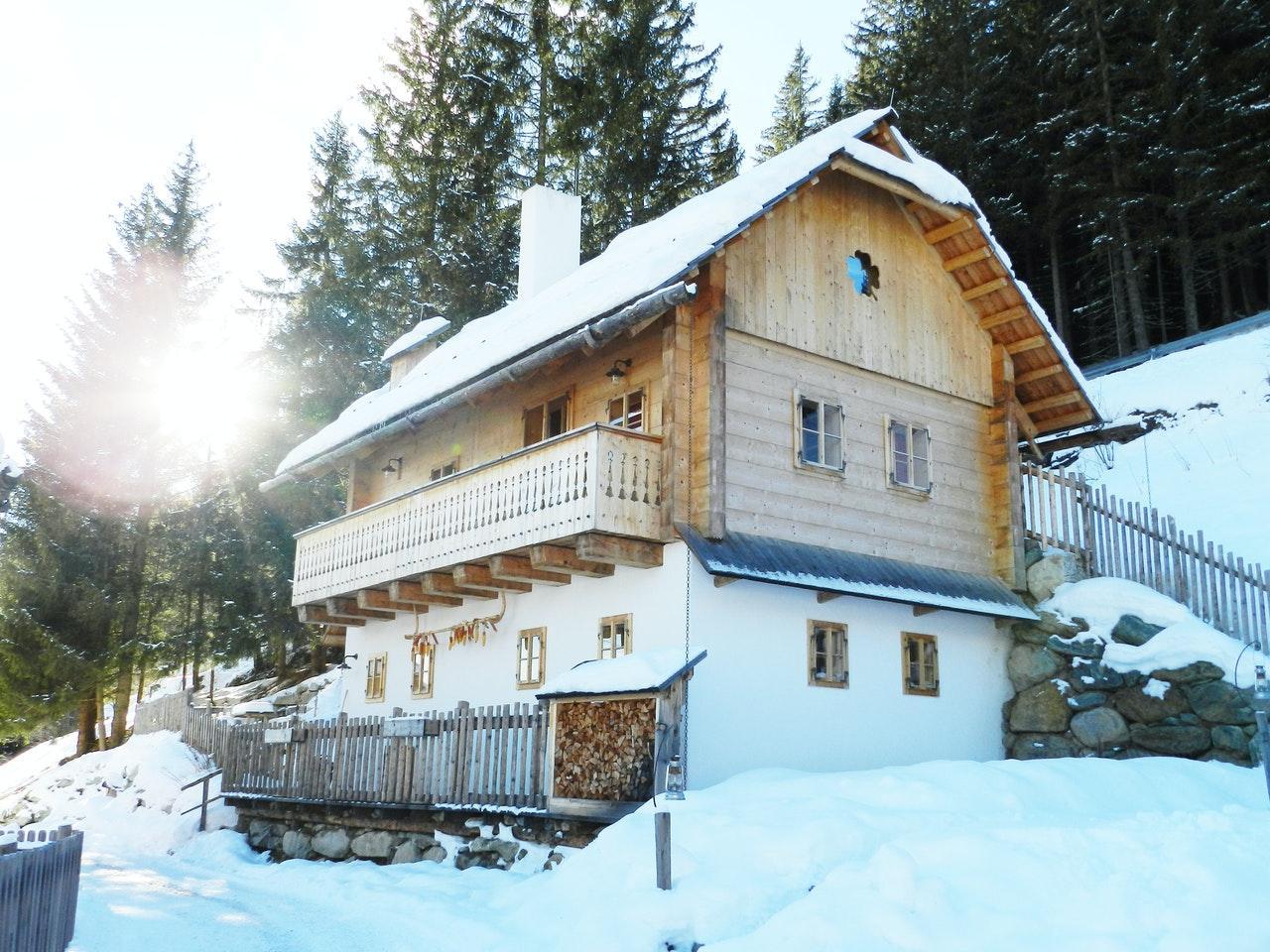 Ferienhütte in den Bergen